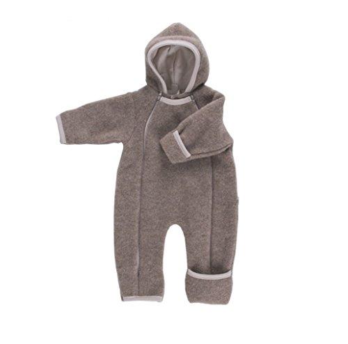 Baby Overall hellbraun Wollvlies Gr.50/56