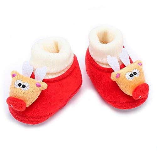 Zolimx Bambino Scarpe Scarpe Halloween Natale Neonato Toddler Baby Natale Cervi del Fumetto Caldo Morbido Sole Boot Scarpe Casual
