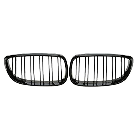 KKmoon Gloss Black M Color Kidney Grille Grill One Pair of Car Gloss Black Front Grille Decoration Grilles