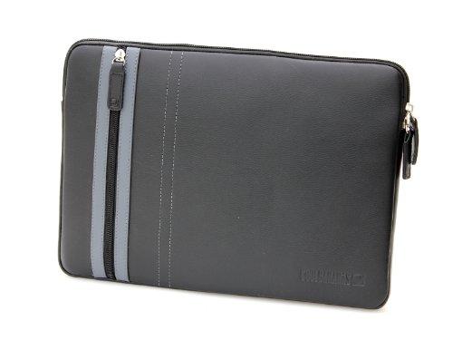 COOL BANANAS SmartGuy Sleeve | Tasche für Apple MacBook Air 11 Zoll (11,6) und weiteren 11 Zoll Laptops und Notebooks | Hülle aus echtem Leder | hochwertig verarbeitet für Business und Privat | Case in Farbe Schwarz (Aus Solo-laptop-tasche Leder)