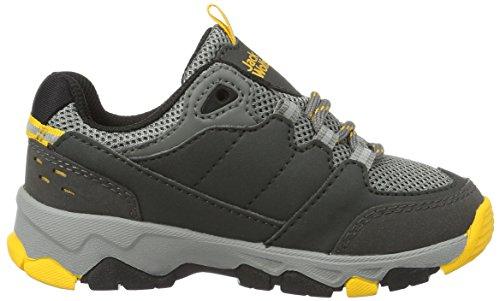 Jack Wolfskin Mtn Attack 2 Low K, Chaussures de Randonnée Basses mixte enfant Gris (Burly Yellow)