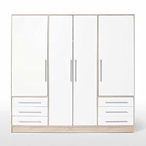 armoire 206cm chene blanc jupiter cuisine maison. Black Bedroom Furniture Sets. Home Design Ideas