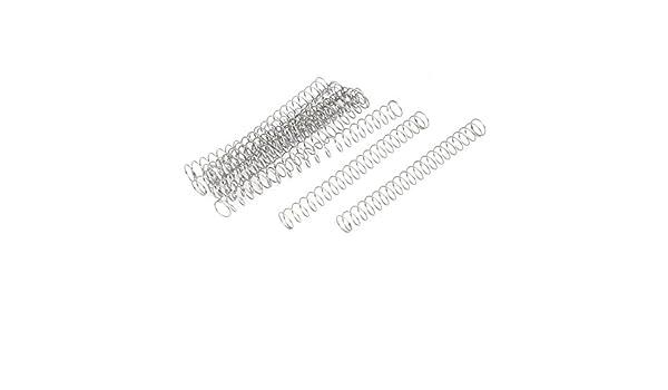 sourcingmap Druckfedern 10 St/ück 0.3mmx5mmx50mm 304 aus Edelstahl Silber