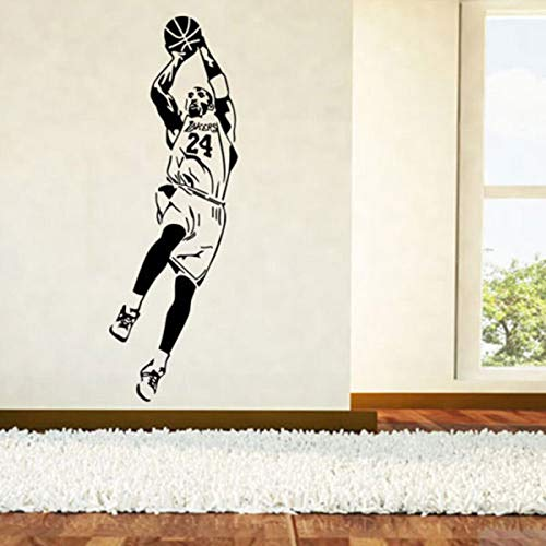 Dongwall Kobe Bryant Vinyl Wandaufkleber Kinderzimmer Basketball Player Abnehmbare Schlafzimmer Dekor Kindergarten Aufkleber 42 * 123 cm -