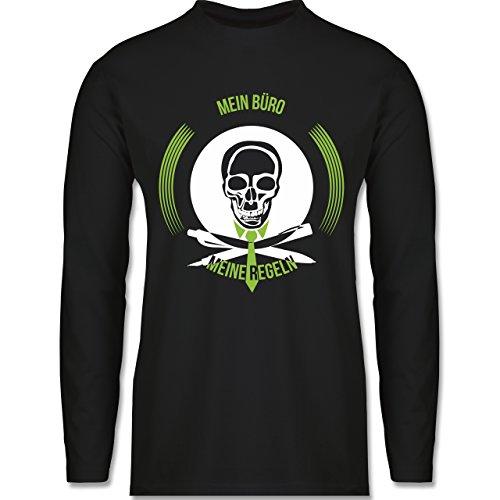 Statement Shirts - Mein Büro meine Regel - Longsleeve / langärmeliges T-Shirt für Herren Schwarz
