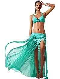 Mujers Elegante Malla Maxi Falda Guay Ropa de playa Trajes de baño