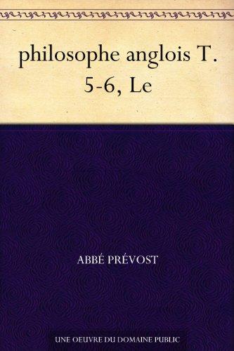 Couverture du livre philosophe anglois T. 5-6, Le