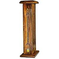 Räuchersäule Räucherturm Blatt aus Holz, 30cm, Räucherstäbchenhalter Halter zum Räuchern von Räucherstäbchen und... preisvergleich bei billige-tabletten.eu