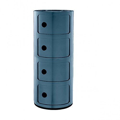 Kartell, Componibile, Contenitore per interni ed esterni, Blu, 32 x 32 x 77 cm