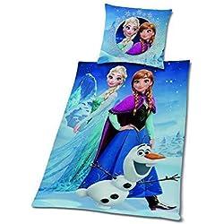 Eiskönigin Ropa de Cama de Franela Disney Frozen Anna Kristoff Olaf 135 X 200 Wow - All-In-One-Outlet-24