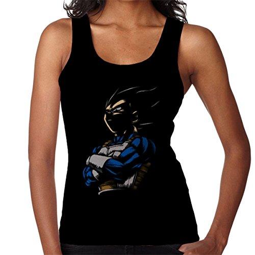 Dragon Ball Vegeta The Proud Prince Women's Vest Black