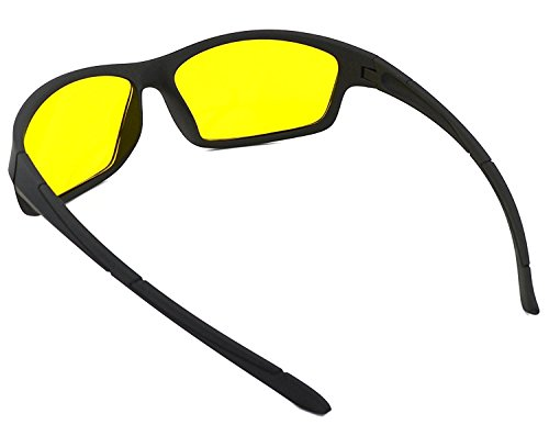 f2797bb5241b LUMONY Unisex Day and Night HD Vision Anti-Glare UV Protected Polarized  Sunglass for Car Drivers