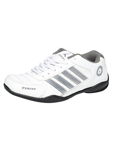 Tracer White And Grey Running Shoes  available at amazon for Rs.1819