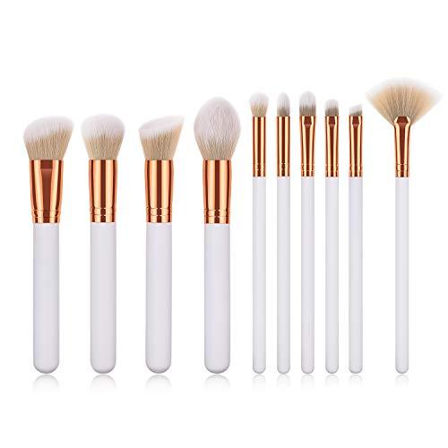 FEDUAN Make-Up Pinsel 10er Set Schminkpinsel Premium mit synthetischem Haar und Holzgriff für...