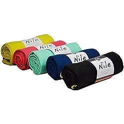 Sternitz Toalla de Microfibra Compacta - Absorbente - Secado Rápido - Perfecta para Natación, Gym, Running, Ciclismo, Senderismo, Yoga, Pilates, etc. - Microfiber Towel (Negro, 40cm x 80cm)