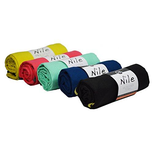 Asciugamano in microfibra sternitz, nuoto, palestra, corsa, ciclismo, trekking, yoga/pilates, microfiber-towel. (60cm x 120cm, nero)