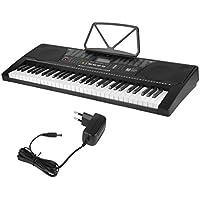 Hehilark Alta Reducción de Ruido Versión en Inglés Reproductor de MP3 Pantalla LCD Luminoso 61 Teclas Enchufe Alemán de órgano Electrónico