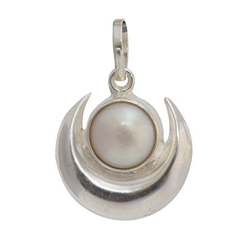 Astrology Paradise Silver Pearl Pendant