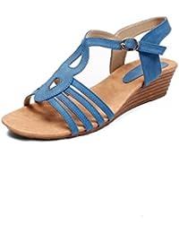 Meriggiare Women Synthetic Blue Wedges