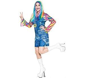 Fyasa 706455-T04 Hippie - Disfraz de Chaqueta para 12 años de Edad,, Grande