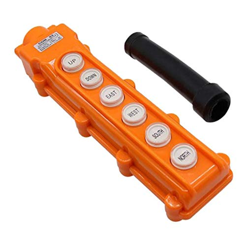 kesoto Hochwertige 6-Taster Schalter, Hebebühne Drucktaster Schalter mit Wasserdichtem Gehäuse