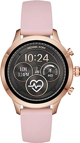 Michael Kors Womens Digital Connected Wrist Watch with Silicone Strap MKT5048