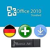 Microsoft Office 2010 Standard ISO USB. 32 bit & 64 bit - Original Lizenzschlüssel mit USB Stick von Badge Art