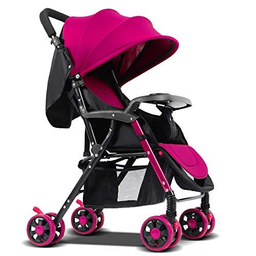 AZW Sonnenschutz-Kinderwagen-Tragetasche und Kinderwagen, Leichter Klapp-Buggy bis 25 kg Mit Liegeposition Liegend, Sonnenschutz-Vierrad-Kinderwagen