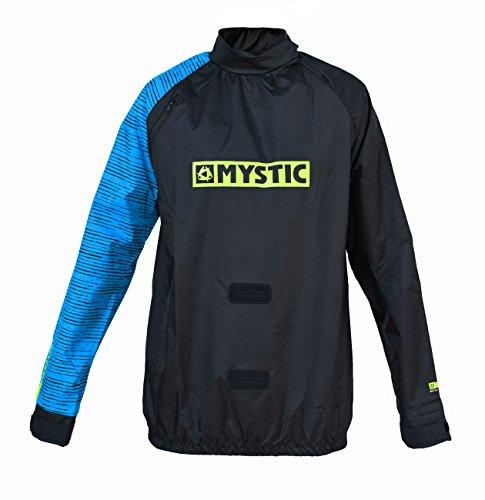 2018 Mystic Kite Windstopper Jacket Black / Blue 140160 Size - - Large (Nylon Trockenanzug)
