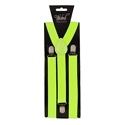 Braces 96cm x 2.5cm - Neon Yellow Fancy -