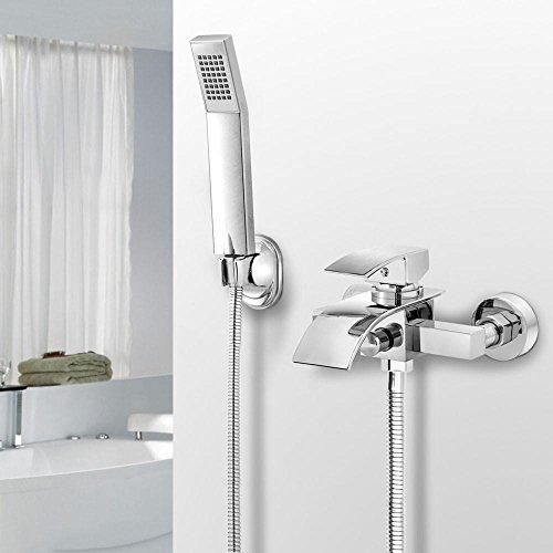 Yaheetech Duschsystem Armatur Set Dusche Set inkl. Überkopfbrause Handbrause Regenbrause