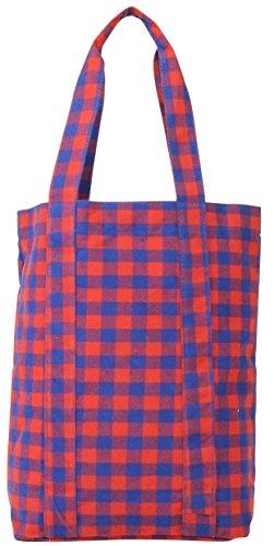 Mi-Pac Tote Bag Bolso Bandolera, 40 cm, 17.5 Litros, Gingham Rd/Blu