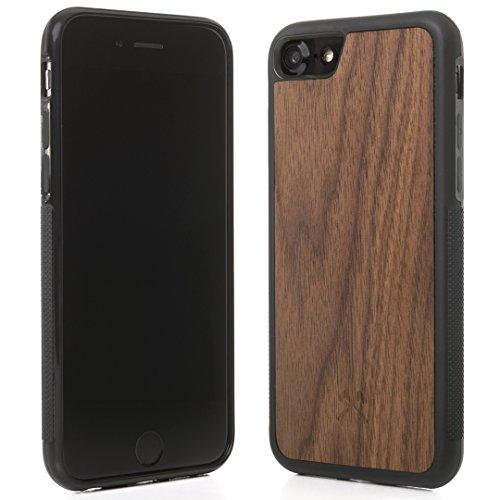 Woodcessories - Hülle kompatibel mit iPhone 7/8 aus FSC Holz - EcoBump Case (Walnuss)