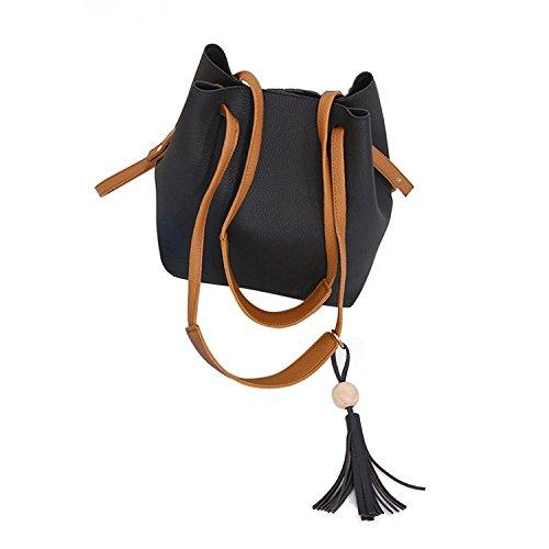 Kleio Women Bucket Tote Shoulder PU Bag