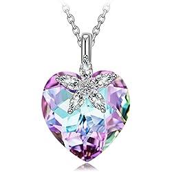Collar Corazón de Plata de Ley con Cristales de Swarovski