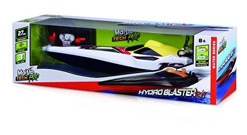 Maisto Tech R/C Hydro Blaster: Pfeilschnelles RC Boot in Speedboot-Ausführung, mit Fernsteuerung, RTR, 34 cm, schwarz-orange (581322)