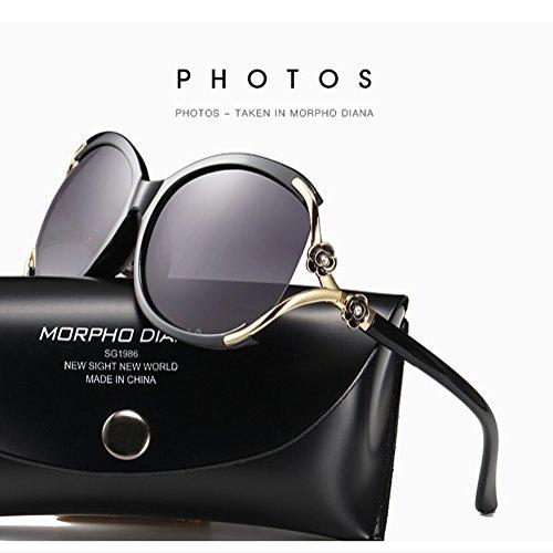 Cj occhiali da sole polarizzati occhiali da sole classici con montatura grande e occhiali da sole, 010