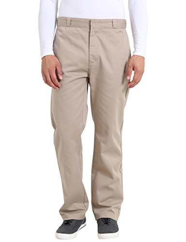 Lower East Herren Streetwear Hose, Beige, 33/34