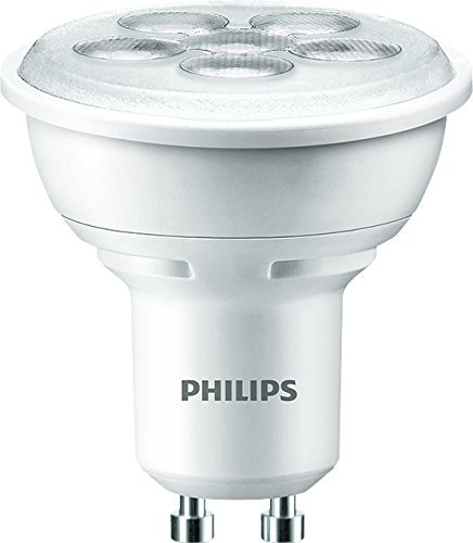 Philips LED Lampe (ersetzt 50 Watt), GU10 2700 Kelvin, 4,5 Watt 345 Lumen, warmweiß 8718291788409 - Par16-halogen-flood