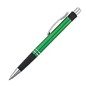 Stylo à bille en métal avec zone de préhension en caoutchouc-lot de 10 stylos à bille en métal avec zone de préhension en caoutchouc vert stylo à bille gM-iT