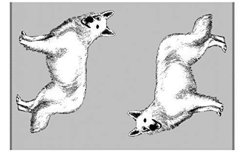 Topmast Vet Bed Hundedecken grau 2x150/100cm auch für Sofa, wunderschöne Muster