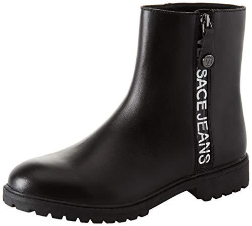 Versace Leder Jeans (Versace Jeans Damen Stivali - Donna Biker Boots, Schwarz (Nero E899), 35 EU)