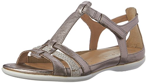 Ecco ECCO FLASH, Damen Knöchelriemchen Sandalen, Silber (WARM GREY METALLIC/MOON ROCK57462), 41 EU (7.5 Damen UK)