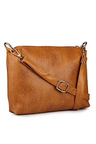 Classic Fashion Women's Sling Bag(Tan,Cfs1008)  available at amazon for Rs.299