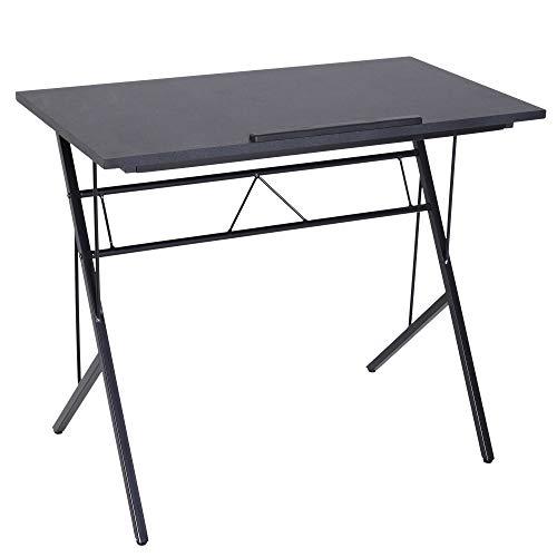 Vinsetto Laptoptisch neigbar Schülerschreibtisch Kinderschreibtisch Notebooktisch höhenverstellbar Computer Tablet Metall + MDF Schwarz 90 x 50 x (76–91) cm - Schreibtisch Höhe Bar