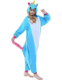 ABYED Adulte Unisexe Anime Animal Costume Cosplay Combinaison Pyjama Outfit Nuit Vetements Onesie Fleece Halloween Costume Soiree de Deguisements