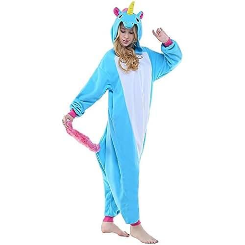 pijama de unicornio kawaii ABYED Kigurumi Pijama Animal Entero Unisex para Adultos Niños con Capucha Ropa de Dormir Traje de Disfraz para Festival de Carnaval Halloween Navidad