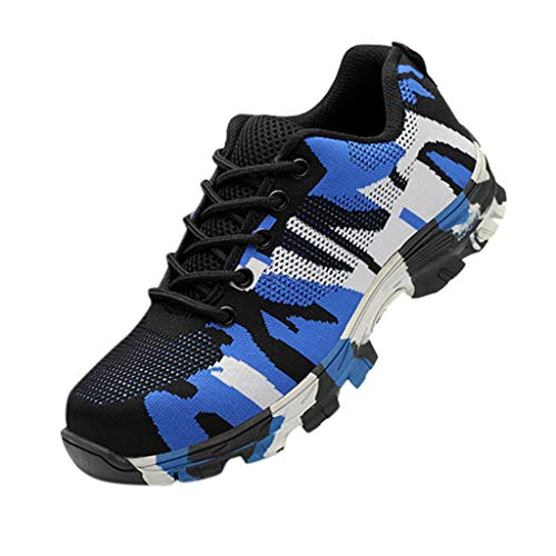Dragon868 Arbeitsschuhe Damen Herren Tarnung Sicherheitsschuhe Leicht Stahlkappen Sportlich Schuhe Wanderhalbschuhe