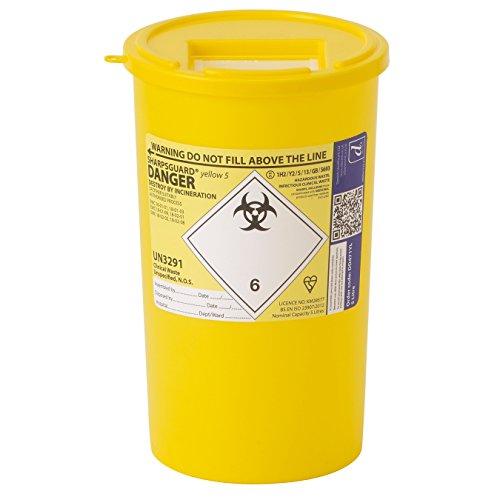 Sharpsguard Contenitore Rifiuti Sanitari 2.5 litro - Giallo