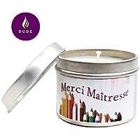 Bougie Parfumée au Choix Merci Maîtresse Bougie Naturelle cadeau maîtresse d'école Merci Cadeaux Cadeaux Personnalisés